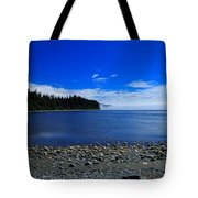 Mist on the Sea at Jordan River Tote Bag by Louise Heusinkveld