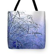 Misty Blue Tote Bag by Will Borden