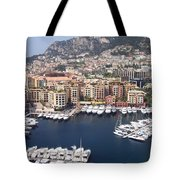 Monaco Harbour Tote Bag by Marlene Challis