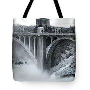 Monroe St Bridge 2 - Spokane Washington Tote Bag by Daniel Hagerman