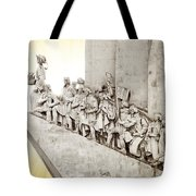 Monument To Discoveries Tote Bag by Carlos Caetano