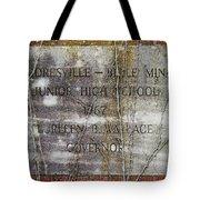 Mooresville - Belle Mina Junior High School 1967 Tote Bag by Kathy Clark