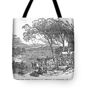 MORMON FLIGHT, 1833 Tote Bag by Granger