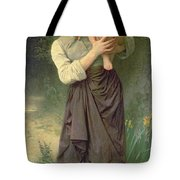 Mother And Child Tote Bag by William Adolphe Bouguereau