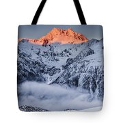 Mount Rolleston In The Dawn Light Tote Bag by Colin Monteath