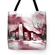 Mountain Cabin Tote Bag by David Lane