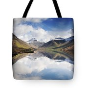 Mountains And Lake, Lake District Tote Bag by John Short
