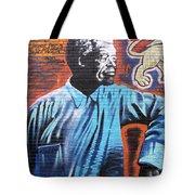 Mr. Nelson Mandela Tote Bag by Juergen Weiss
