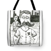 Mustache Envy Tote Bag by Michael Mooney