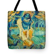 My Krishna Is Blue Tote Bag by Ashleigh Dyan Bayer