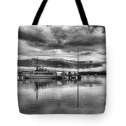 Navy Lookout Tote Bag by Douglas Barnard