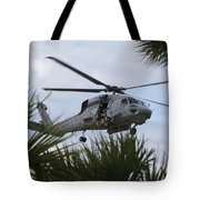 Navy Seals Look Out The Helicopter Door Tote Bag by Michael Wood