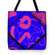 Neon Out Of Bounds Tote Bag by Carolyn Marshall