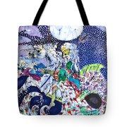 Neptune Rides The Sea Tote Bag by Carol Law Conklin