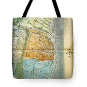 New England To Virginia, 1651 Tote Bag by Photo Researchers