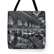 New York Public Library Main Reading Room Vi Tote Bag by Clarence Holmes