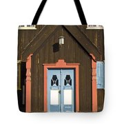 Norwegian Wooden Facade Tote Bag by Heiko Koehrer-Wagner