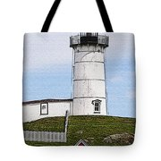 Nubble Lighthouse- Canvas Tote Bag by Luke Moore