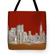 Nyc Red Sepia  Tote Bag by Adendorff Design