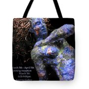 Oak And Nectar Exhibition Poster Black Tote Bag by Adam Long