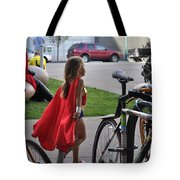 Off To Save The World- Back By Naptime Tote Bag by Anjanette Douglas