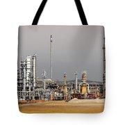 Oil Refinery Tote Bag by Carlos Caetano