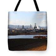 Oil Refinery Industrial Plant In Martinez California . 7d10398 Tote Bag by Wingsdomain Art and Photography