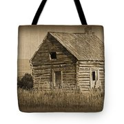 Old Hunting Cabin - Wyoming Tote Bag by Donna Greene