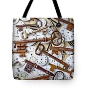 Old Keys And Watch Dails Tote Bag by Garry Gay