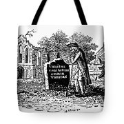 Old Man At Tombstone Tote Bag by Granger