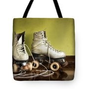 Old Roller-skates Tote Bag by Carlos Caetano