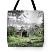 Old Shed Tote Bag by Lori Frostad