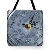 Old Silver Clock Tote Bag by Carlos Caetano