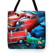 Old Tin Toys Tote Bag by Steve McKinzie