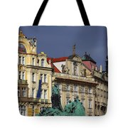 Old Town Square In Prague Tote Bag by Christine Till