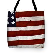 Old Usa Flag Tote Bag by Carlos Caetano
