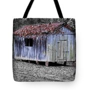Old Weathered Shed Tote Bag by Betty LaRue