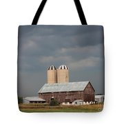 Ominous Clouds Over The Barn Tote Bag by J McCombie