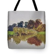 On The Arun Stoke Sussex  Tote Bag by George Vicat Cole