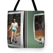 On The Trail - Gently Cross Your Eyes And Focus On The Middle Image That Appears Tote Bag by Brian Wallace