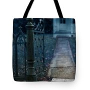 Open Iron Gate To Old House Tote Bag by Jill Battaglia