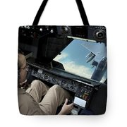 Operator Refuels An F-16 Fighting Tote Bag by Stocktrek Images
