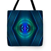 Optical Blue Tote Bag by Carolyn Marshall