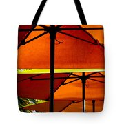 Orange Sliced Umbrellas Tote Bag by Karen Wiles