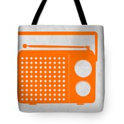 Orange Transistor Radio Tote Bag by Naxart Studio