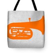 Orange Tuba Tote Bag by Naxart Studio