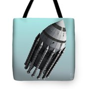 Orion-drive Spacecraft With Solid-fuel Tote Bag by Rhys Taylor