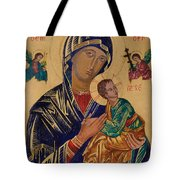 Our Mother Of Perpetual Help Tote Bag by Camelia Apostol