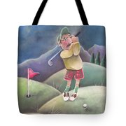 Out On The Course Tote Bag by Caroline Peacock