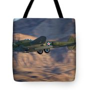 P-38 Gear Up Tote Bag by Tim Mulina
